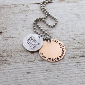 Jewelry - Loves Jesus & America Too necklace